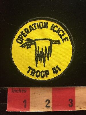 Vintage TROOP 41 BSA Operation Icicle Boy Scouts Patch 87N9