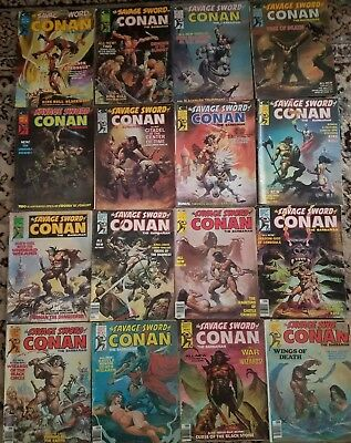 The Savage Sword of Conan Lot of 17 #2 3 4 5 6 7 8 9 10 11 12 14 16 17 18 19 20