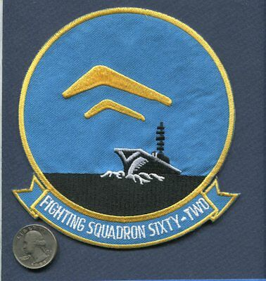 VF-62 BOOMERANGS US NAVY VOUGHT F-8 CRUSADER Fighter Squadron Jacket Patch