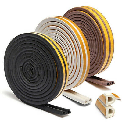 5M Foam Draught Excluder Weather Seal Strip Insulation Door Window D E P Profile