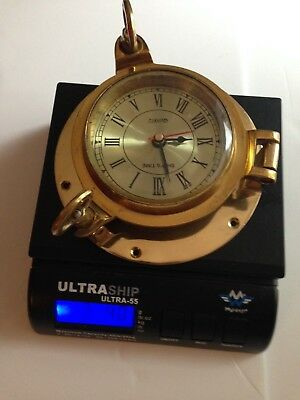 Ship's Time Nautical  Wall Clock Solid Brass