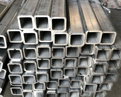 """316-L Stainless Steel Square Tube - 1"""" x 1"""" x 96"""" Length x .125"""" Wall"""