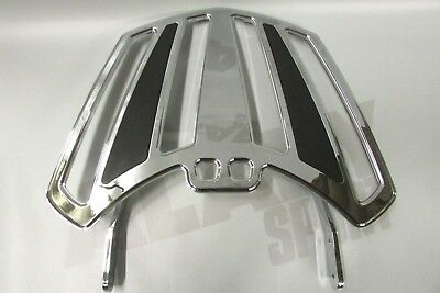 New Genuine Victory Chrome Passenger Backrest Luggage Rack Cross Country 2877950