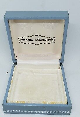 Vintage Antique Empty Square Jewellery Box For  Brooch - Ect Blue