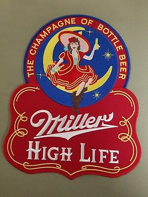 miller high life beer embroidered back patch