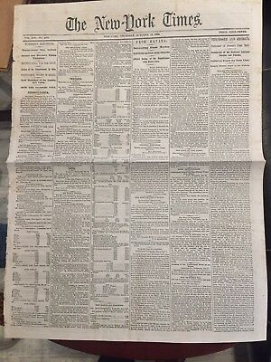 The New York Times Printed In 1864