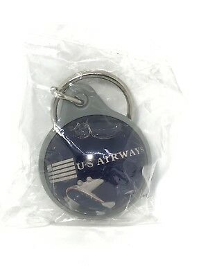 Vintage US Airways Bubble Water Key Chain Airline Plane Airplane