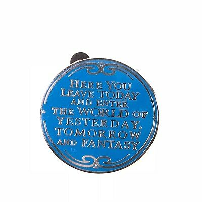 Here You Leave Today and Enter the World of Yesterday Walt Disney Quote Pin