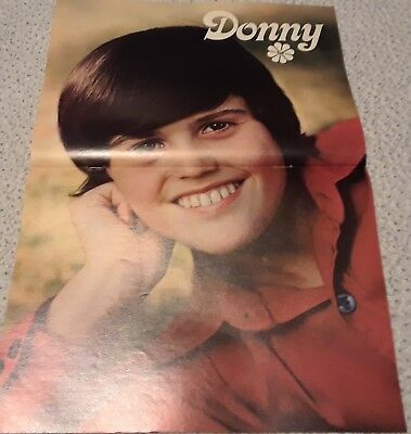Donny Osmond Centerfold Clipping Poster From A Magazine 70's Osmonds Young