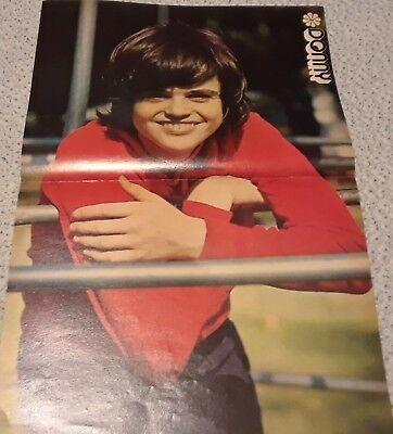Donny Osmond Centerfold Clipping Poster From A Magazine 70's Osmonds Teeth