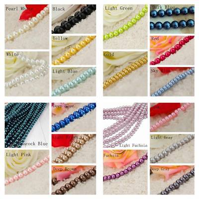 Wholesale Czech Glass Pearl Round Beads 3mm 4mm 6mm 8mm Jewelry Finding Craft