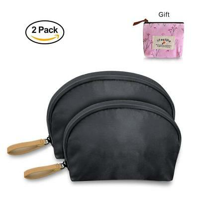 Portable Make Up bag Travel Bag - Cosmetic Organizing Pouch Set of 2 for Women a