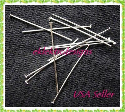 50pcs 40mm .7mm/21gauge Surgical Stainless Steel Headpins Pins Jewelry Finding