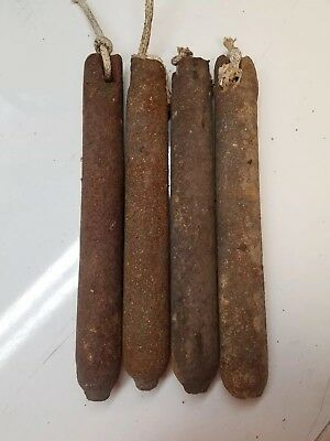 (4) 4 Lb Antique Vintage Cast Iron Window Sash Weights.