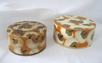 TWO VINTAGE ART DECO COTY FRANCE BODY TALC CONTAINER/dsgn,by RENE LALIQUE..