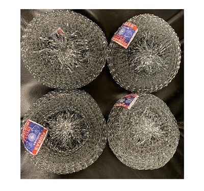 4-Mexican Estropajo Stainless Steel Scourer Pad Heavy Duty Scrubber MadeInMexico