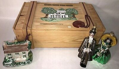 Gone With The Wind GWTW 3 Piece Ornament Set Wooden Box Polonaise Holiday Decor