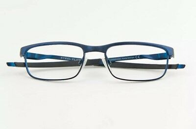 02b0b68083 New Oakley STEEL PLATE Eyeglasses RX Frame OX3222-0352 Powder Midnight 52-18 -