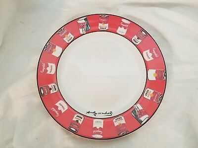 """Andy Warhol Block Campbell SOUP 8"""" Lunch Plate MCM Pop Art"""