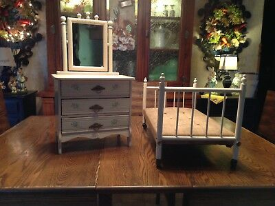 Antique Doll Bed And Dresser