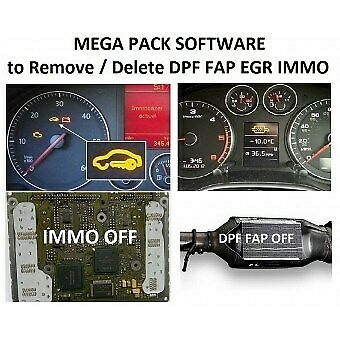 ✔️MEGA SOFTWARE Pack 20 Programs Delete Remove DPF FAP EGR OFF ECU VIRGIN OBD2✔️