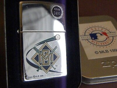 Zippo #250MLB 172-MILWAUKEE BREWERS DISCONTINUED LIGHTER MINT IN BOX-NOS MIB!