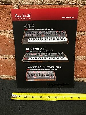 Dave Smith DSI Synth Synthesizer 2016 Product Line Card Spec Sheet