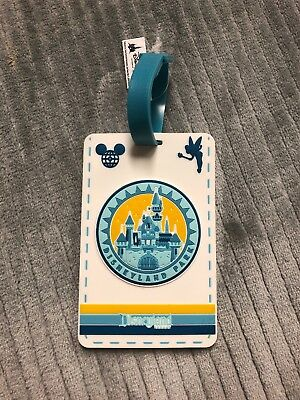 Disney Parks Disneyland Park Sleeping Beauty Castle Luggage Tag New with Tags
