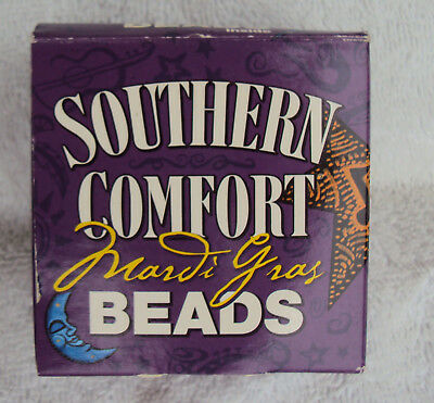 Vintage 2005 Southern Comfort Mardi Gras Beads in box Halloween New Years Paddys
