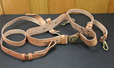 US Civil War Confederate South Officer's Natural Leather Sword Belt / Baldric 36