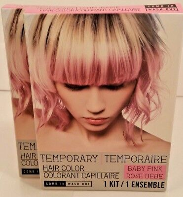 New Baby Pink Temporary Wash Out Hair Color Lot Of 2