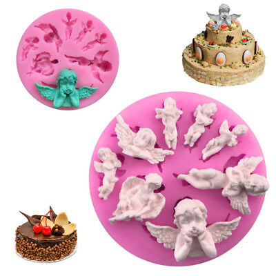 3D Angel Baby Silicone Fondant Soap Mold Chocolate Fimo Clay Candy Cake Mould