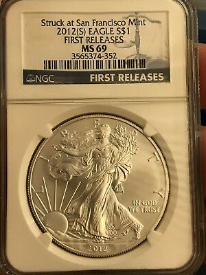 2012 (S)American Silver Eagle ASE S$1 NGC MS69 First Releases