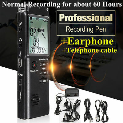 16G Rechargeable Digital Audio Sound Voice Recorder Pen Dictaphone MP3 Player