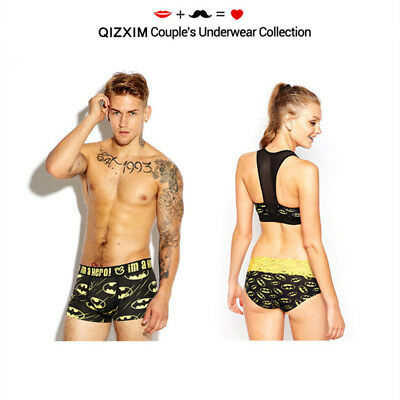 Batman Cotton Couple Underwear Lover Panties Men Boxers Women Briefs Valentine's