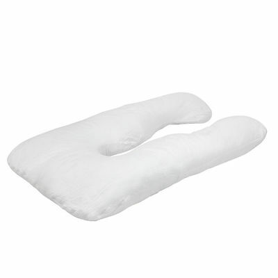 U-Shaped Full Body Pillow, U Shaped Pregnancy Pillow & Maternity Support White