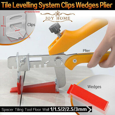 Tile Leveling System Clips Wedges Plier Spacer Tiling Tool Floor Wall 1.5 2 3mm