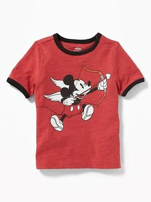 Nwt 18-24 Mon. Old Navy ❤️ Cute Disney Mickey Mouse Cupid T Top Shirt Cute Gift!