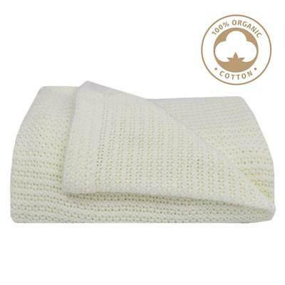 NEW Living Textiles Cot Cellular Blanket from Baby Barn Discounts
