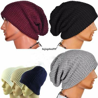 f8cb713258d Unisex Vertical Stripe Knitting Cap Warm Soft Knitted Hat Winter Autumn OO55