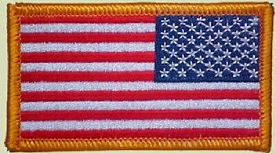 NEW LOT of (10) US MILITARY ARM PATCHES REVERSE AMERICAN FLAG Authentic Iron On