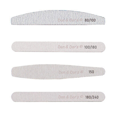 Nail Art Sanding Files Acrylic Gel 80/100/150/180/240 Grit Manicure Tool Diamond