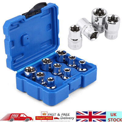 9pcs/Set Torx Star Socket Set & Bit Male Female E-Sockets With Torx Bit Tools