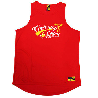 Gym Bodybuilding Vest Funny Mens Sports Performance Singlet - Cant Stop Lifting