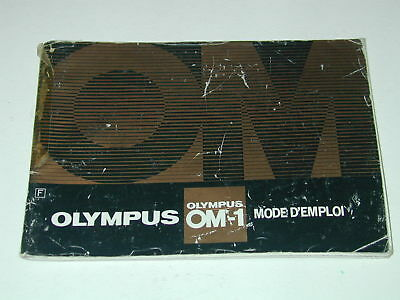 OLYMPUS notice OM-1 mode d'emploi en FRANCAIS photo photographie