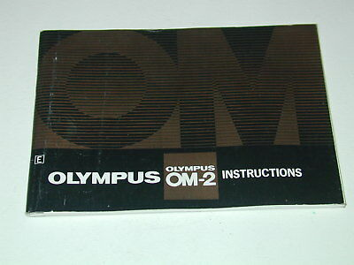 OLYMPUS notice OM-2 INSTRUCTIONS in english anglais photo photographie