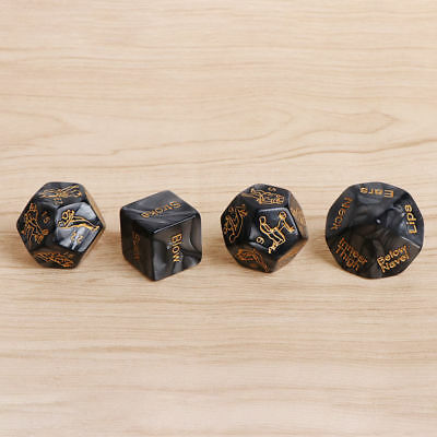 Lovers Dice Game! Saucy Adult Fun Naughty Gift Romantic Sex Aid Dice 4Pcs