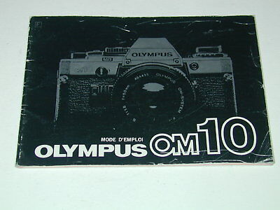 OLYMPUS notice OM-10 mode d'emploi en français photo photographie