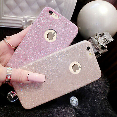 Luxury Glitter Clear Soft Silicone TPU Case Cover Skin for iPhone 6 6s 7 Plus X