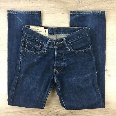 Abercrombie & Fitch Straight Blue Denim Boy's Jeans Size 8 W25 L25 (AB7)